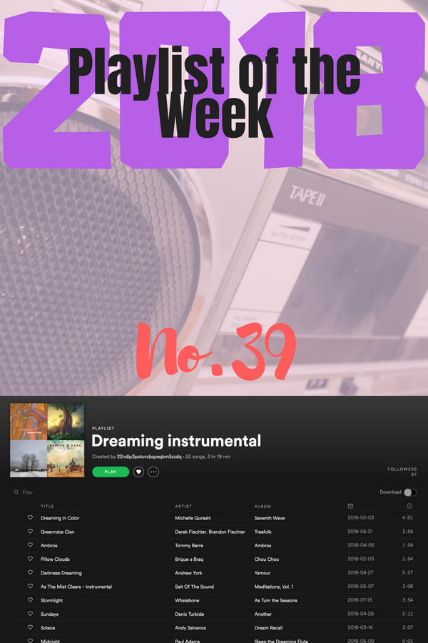 Playlist of the Week (2018/39): Andy Salvanos's gorgeous Dreaming Instrumental collection.