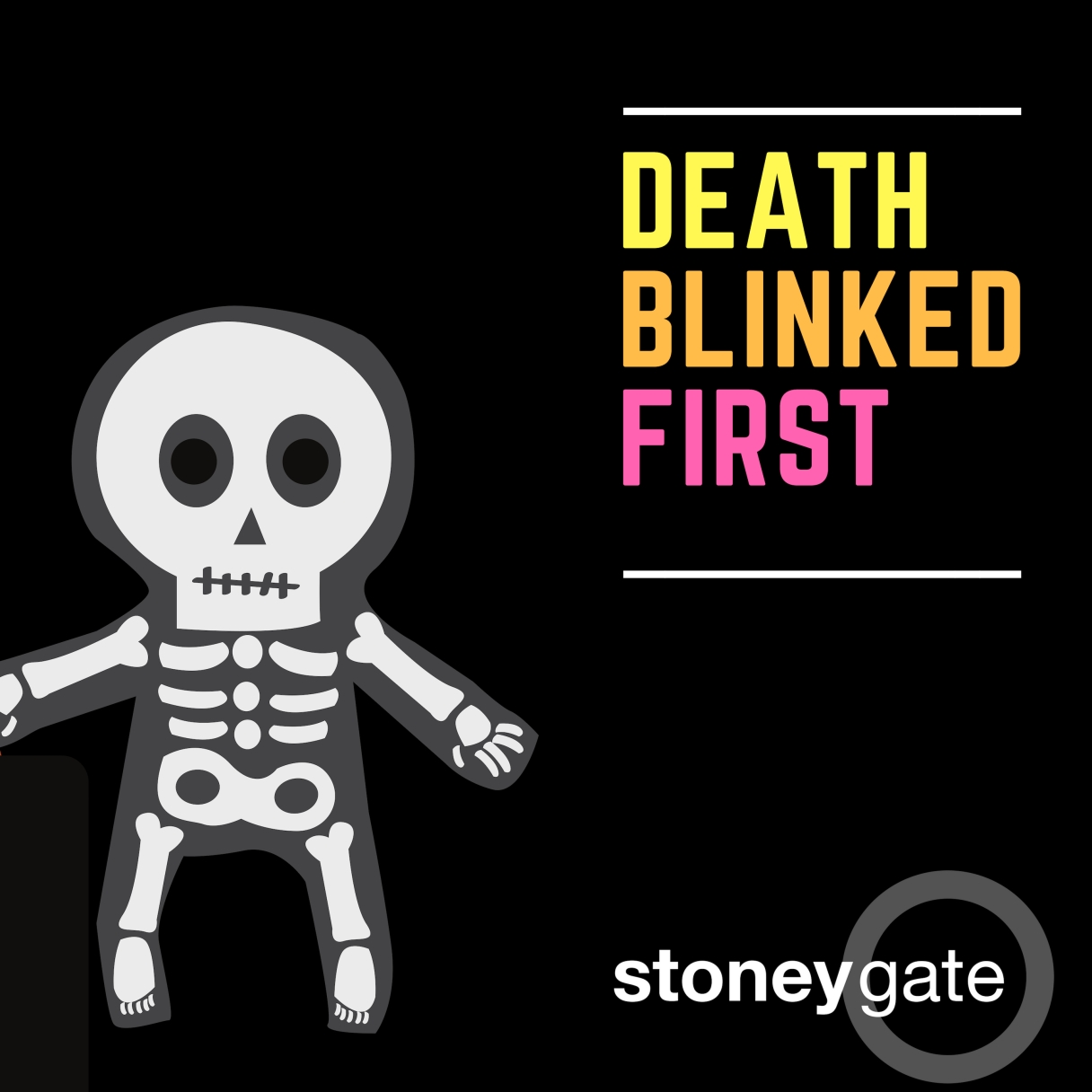 Death Blinked First - Stoneygate, single cover design
