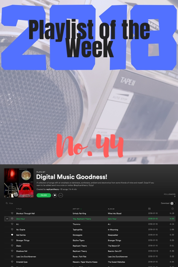 Digital Music Goodness, from Replicant Theory, is this week's playlist of the week.