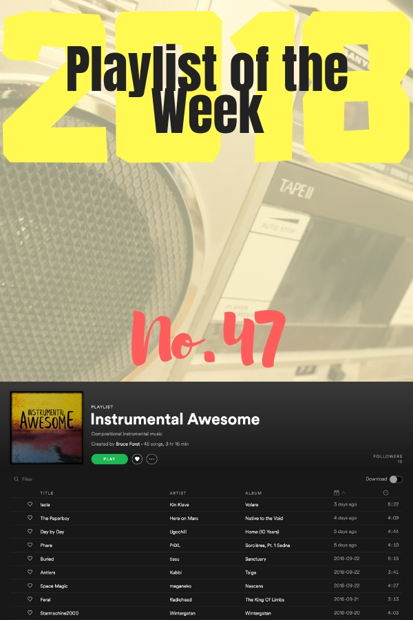 Playlist of the Week No 47, 2018: Instrumental Awesome by Bruce Forst